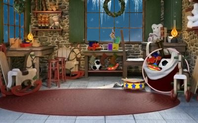 Santa's Flooring Choices at the North Pole